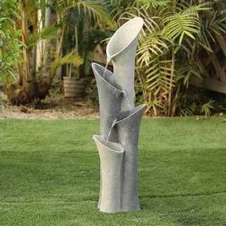 Link to Polyresin Four Tiered Classical Columns Patio Fountain Similar Items in Outdoor Decor