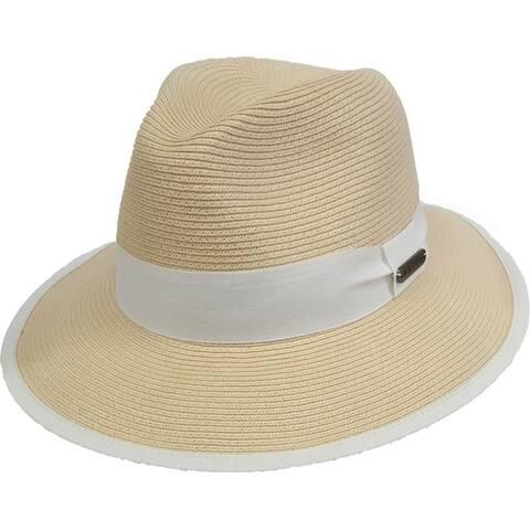 Unisex hand sewn Toyo Straw Braid Trilby Fedora Summer Hat