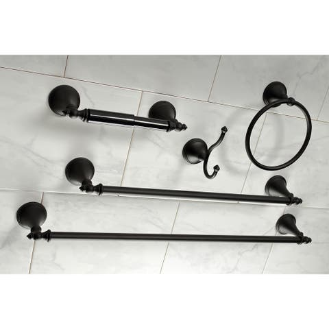 Naples 18-Inch and 24-Inch Towel Bar Bathroom Accessory Set in Black