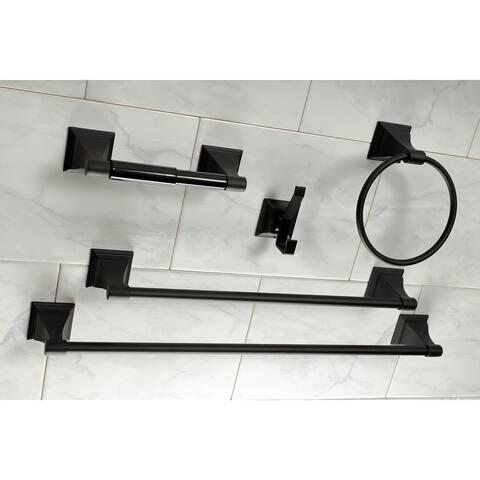 Monarch 18-Inch and 24-Inch Towel Bar Bathroom Accessory Set in Black