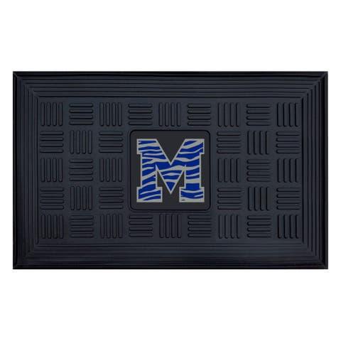 FANMATS University of Memphis Medallion Door Mat