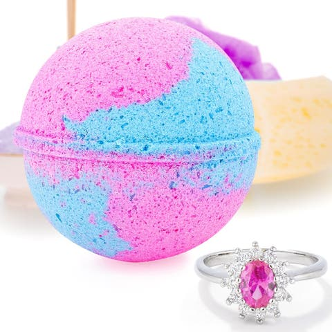 Bath Bomb Deluxe 8oz. And Surprise Jewelry Ring, Perfect for Bubble Spa Bath