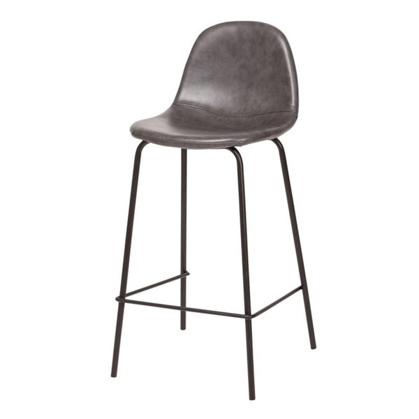 Carbon Loft Esparza Counter Stool in Distressed Grey Leather. Opens flyout.