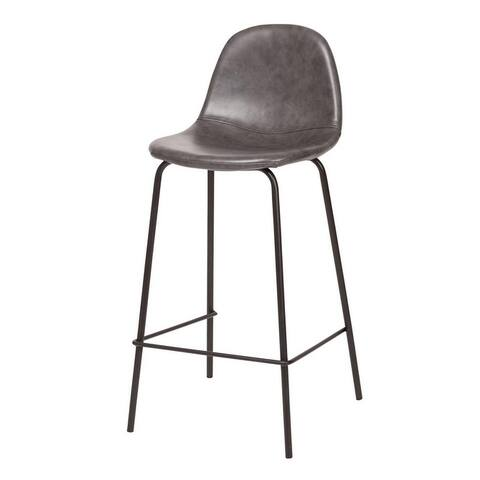 Carbon Loft Esparza Counter Stool in Distressed Grey Leather