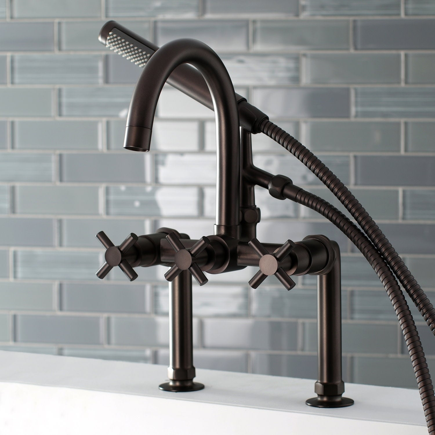Shop Concord 7 Inch Deck Mount Clawfoot Tub Faucet   Overstock