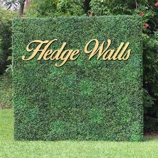 "Artificial Boxwood Hedge Greenery Panels, 20""x20""/pc - 12pc"