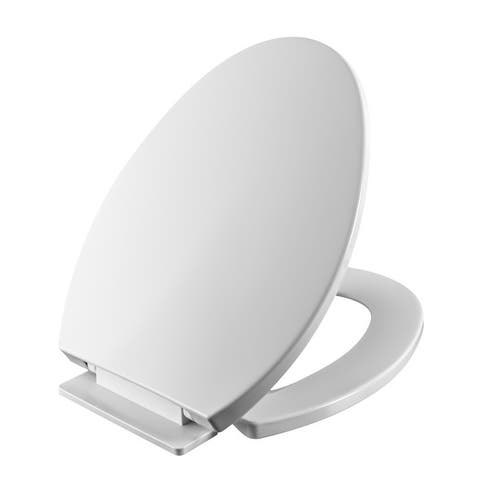 Slow Close Elongated Toilet Seat Cover Easy install Clean Quiet Close