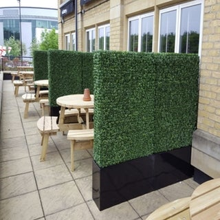 """Link to Artificial Boxwood Hedge Greenery Panels, 20""""x20""""/pc - 12pc Similar Items in Decorative Accessories"""