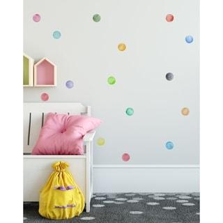 "63 Pieces 3"" Watercolor Little Circles Polka Dots Wall Sticker Set"