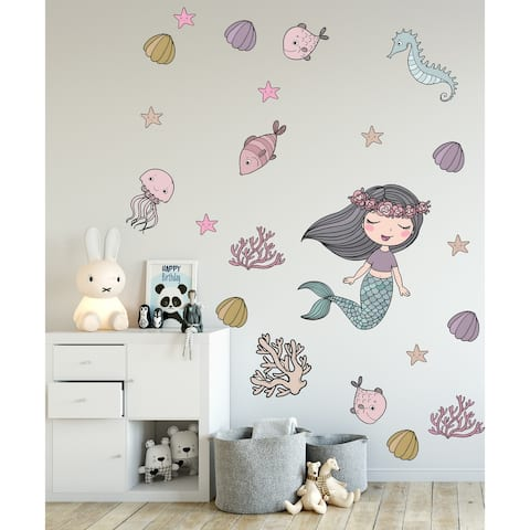 Mermaid Ariel Removable Wall Decal
