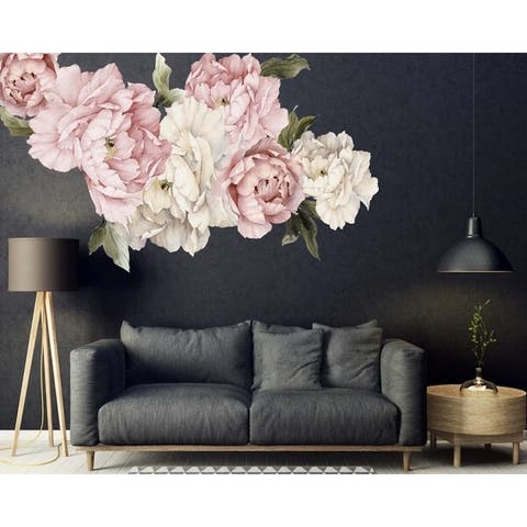 20 Piece Peonies Wall Decal Set
