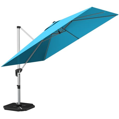 10' Market Umbrella Outdoor Patio Square Offset with Base