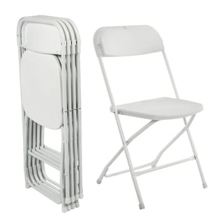 Folding Plastic Chairs 330lbs Capacity for Commercial Wedding Party Set of 5