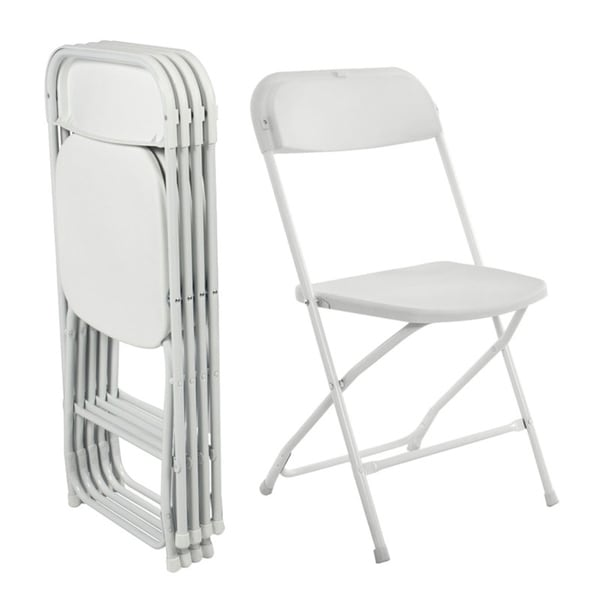 Folding Plastic Chairs 330lbs Capacity for Commercial Wedding Party Set of 5. Opens flyout.