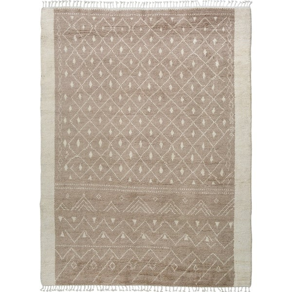 """Brown Tribal Moroccan Home Decor Area Rug Handmade Living Room Carpet - 7'9"""" x 9'10"""". Opens flyout."""