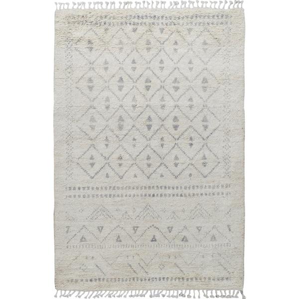 "Decorative Tribal Moroccan Area Rug Handmade Foyer Wool Carpet - 4'10"" x 8'5"". Opens flyout."