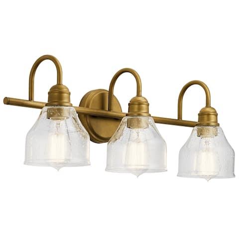Copper Grove Grandi 3-light Natural Brass Vanity Light