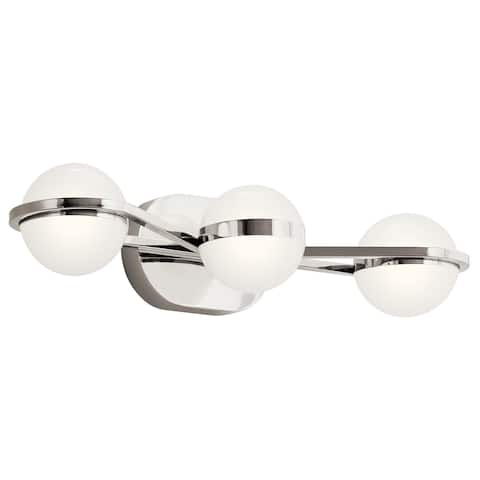 élan Brettin Collection 3-Light LED Vanity Light Polished Nickel