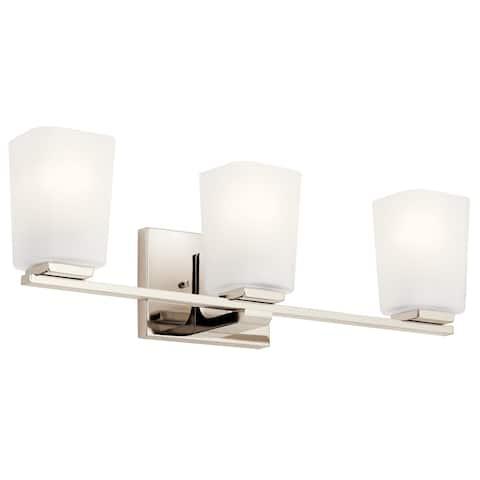 Kichler Lighting Roehm 3-Light Vanity Light Polished Nickel
