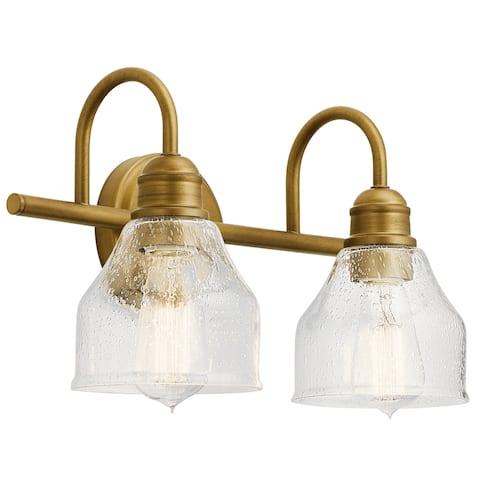 Kichler Lighting Avery 2-Light Vanity Light Natural Brass