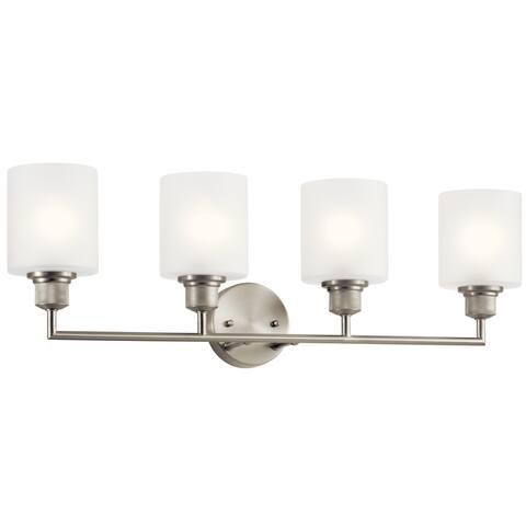 Kichler Lighting Lynn Haven 4-Light Vanity Light Brushed Nickel