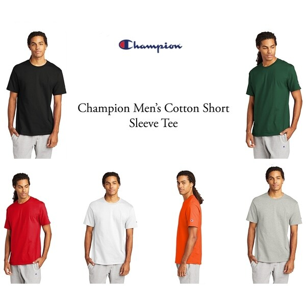 Champion Mens Cotton Short Sleeve Tee