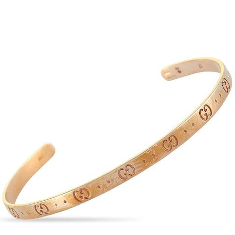 Gucci Icon Rose Gold Bracelet Size 17