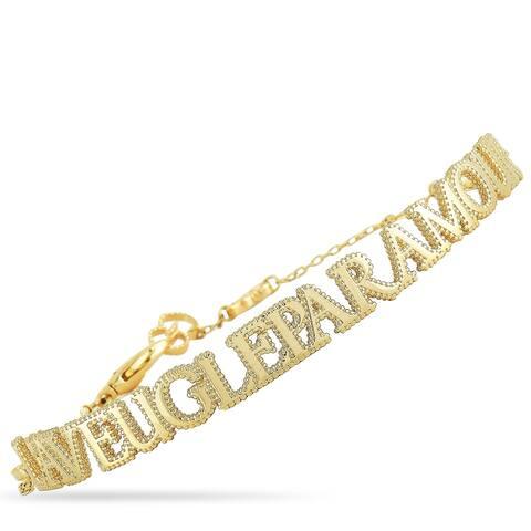 Gucci L'Aveugle Par Amour Yellow Gold Bracelet Size 17