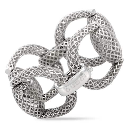 Gucci Horsebit Silver Bracelet