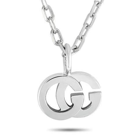 Gucci GG Running White Gold and Diamond Necklace Length N/A