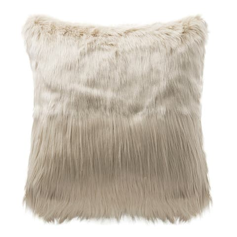 Highline Bedding Co Madrid 18x18 Fur Dec Pillow