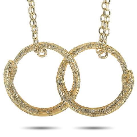 Gucci Ouroboros Yellow Gold Necklace Length N/A