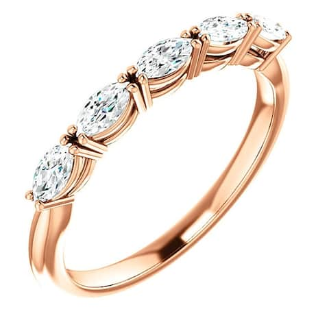 1 1/2Ct Oval Moissanite Wedding Ring Available in Rose Gold