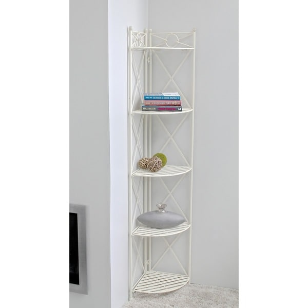 International Caravan Iron 5-tier Corner Shelf