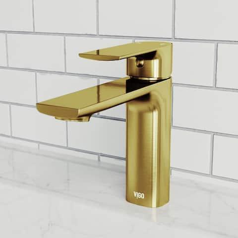 Davidson Single Hole Bathroom Faucet in Matte Brushed Gold