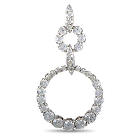 LB Exclusive White Gold Diamond Pendant