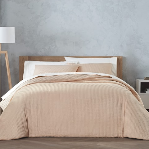 Habit By Highline Bedding Co Cocoon Waffle Apricot 3PC Duvet Set