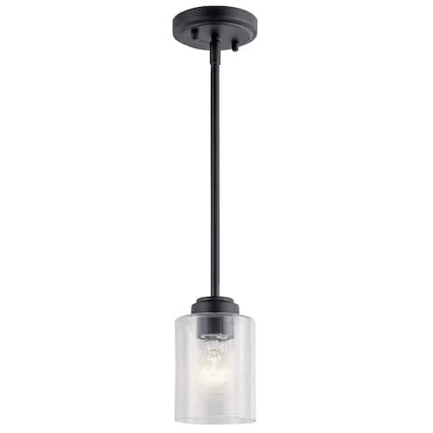 Kichler Lighting Winslow Black 1-Light Mini Pendant