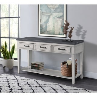 Martin Svensson Home Del Mar Sofa Console Table, Antique White and Grey