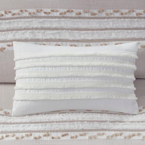 INK+IVY Daria Cotton Oblong Pillow