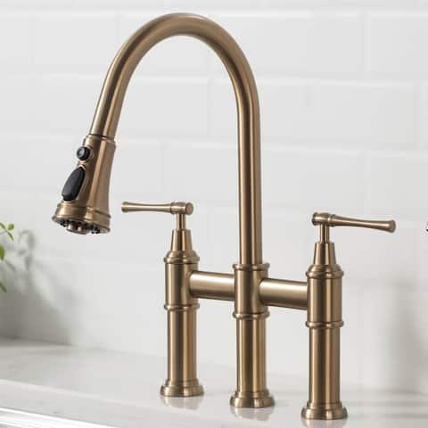 Kraus KPF-3121 Allyn Bridge Kitchen Faucet w/ Pull-Down Sprayhead