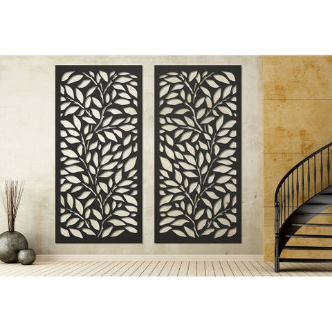 """HighlandHome Laser Cut Metal Privacy Fence Screen, 24"""" x 48""""/pc"""