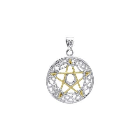 Celtic Pentacle Pentagram Goddess Sterling Silver Pendant