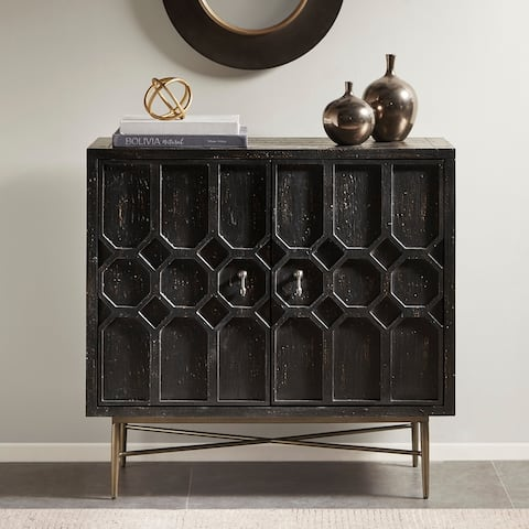Madison Park Eddy Black 2 Doors Accent Cabinet