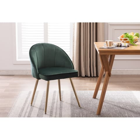 Porthos Home Daija Velvet Dining Chairs with Gold Legs