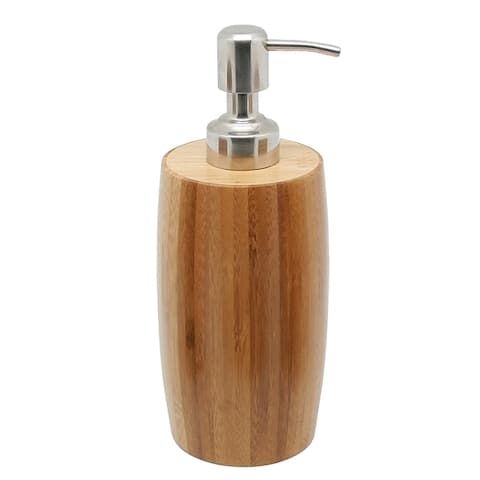 Creative Home Bamboo Liquid Soap, Lotion Dispenser