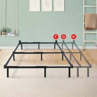 Sleeplanner Dura Metal Compact Adjustable Steel Bed Frame For Full Queen King