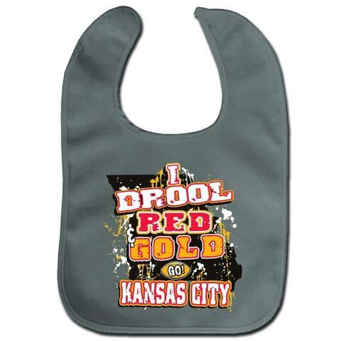 Encore Kansas City Football Champion Baby Bib Red & Gold