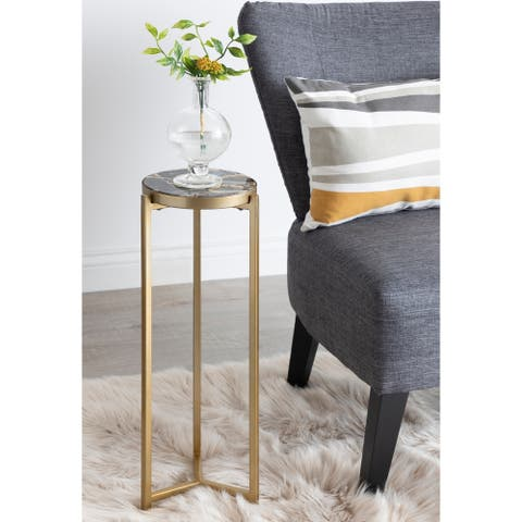 Kate and Laurel Aguilar Glam Drink Table - 8x8x23