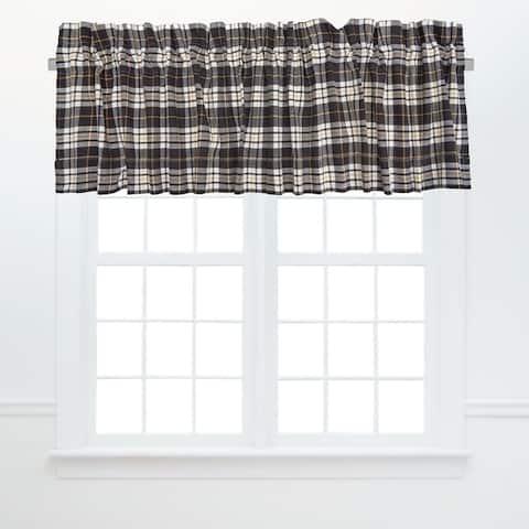 Parker Plaid Window Curtain Valance Set of 2 - 15.5 x 72